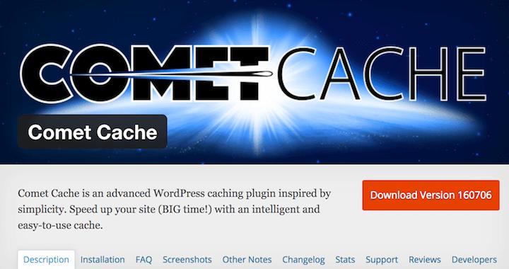 Comet Cache - benutzerfreundliches Caching Plugin