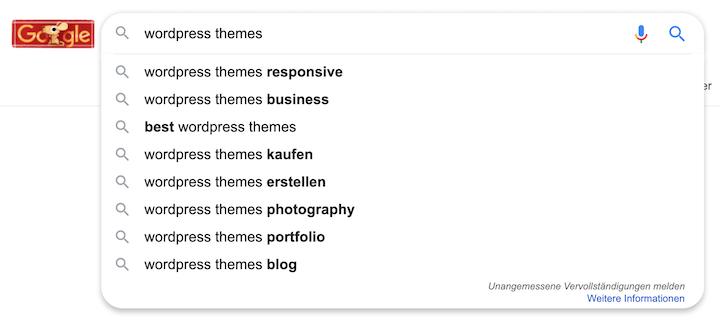 Keyword Recherche Tool Google Autocomplete - Autovervollständigung der Suchbegriffe