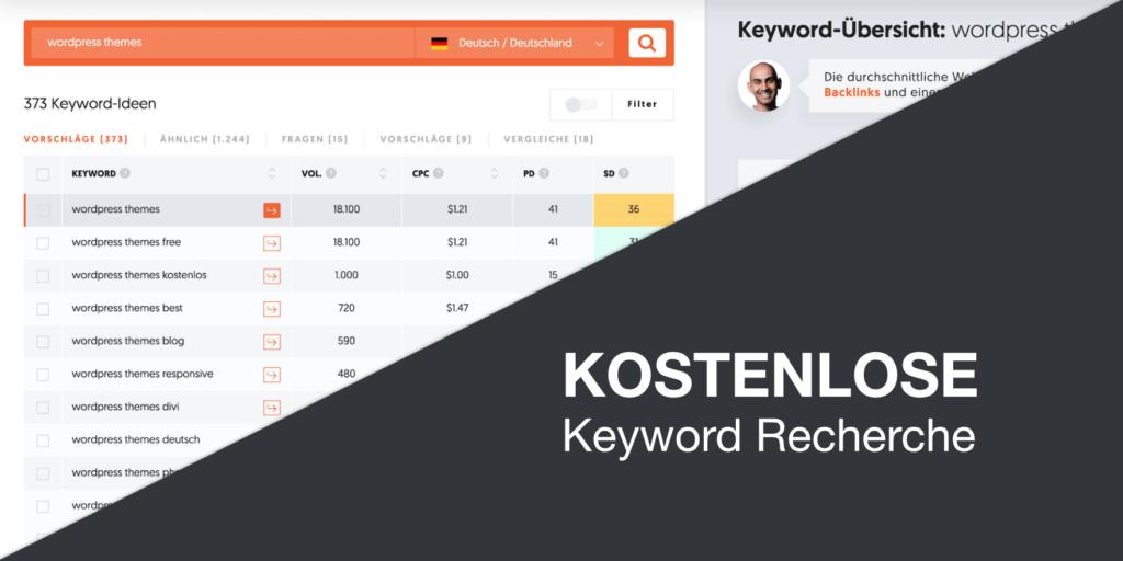 Kostenlose Keyword Recherche Tools