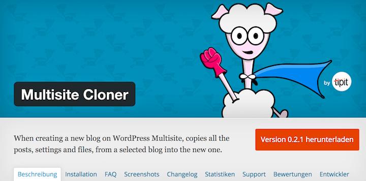 Klone jeden beliebigen Blog einer Multisite