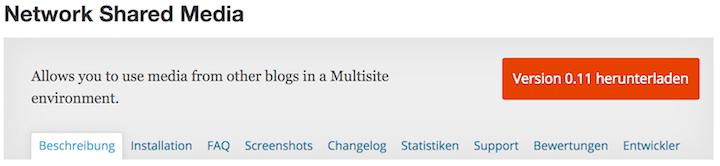 Gemeinsame Mediathek für WP Multisite