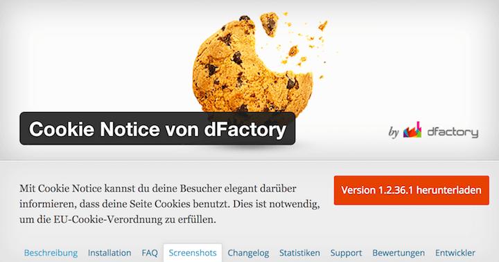 Cookies Hinweis