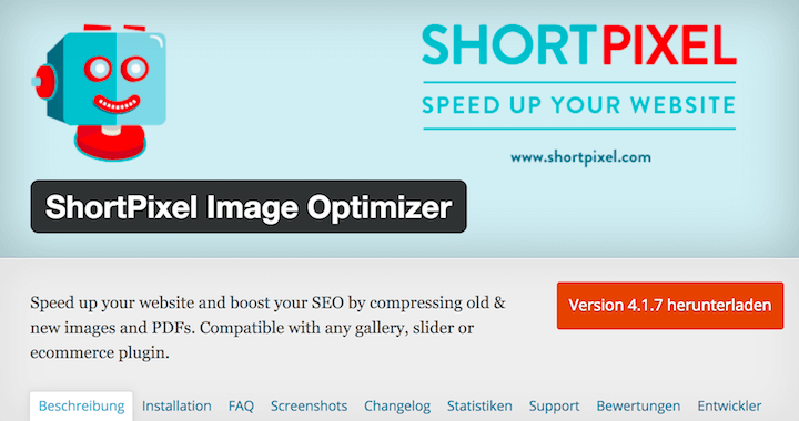 Bildoptimierung mit ShortPixel Image Optimizer WordPress Plugin