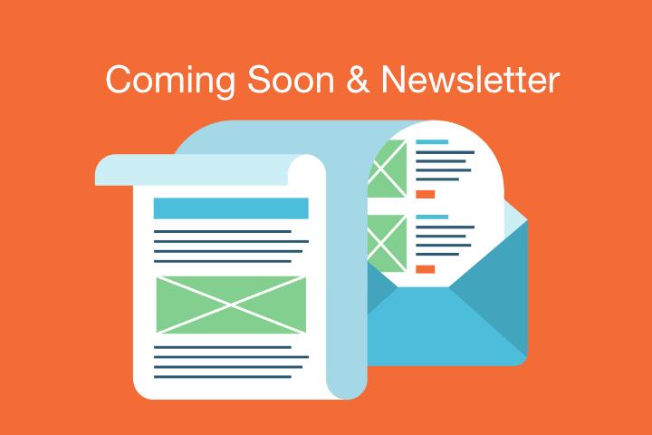 Coming Soon Seite mit Newsletter Integration