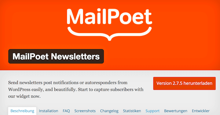 MailPoet Newsletter - die Alternative für den deutschen Markt?