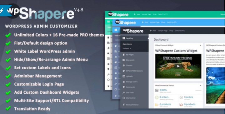 WPShapere WordPress Admin Theme