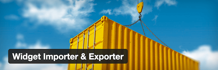 WordPress Plugin Widget Importer & Exporter