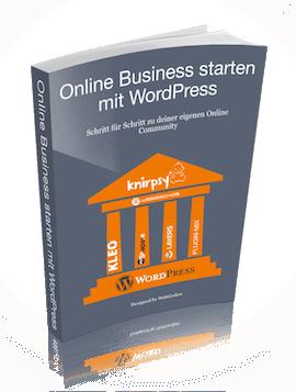 Online Business starten mit WordPress kostenloses E-Book