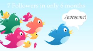 Wie ich in nur 6 Monaten 7 Twitter Follower bekommen habe