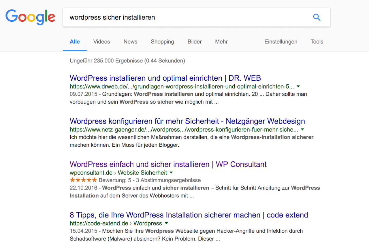 Blog SEO mit WordPress Plugin kk Star Ratings