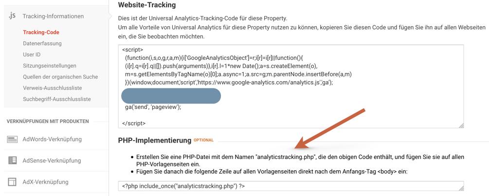 Google Analytics Code ohne Plugin manuell integrieren