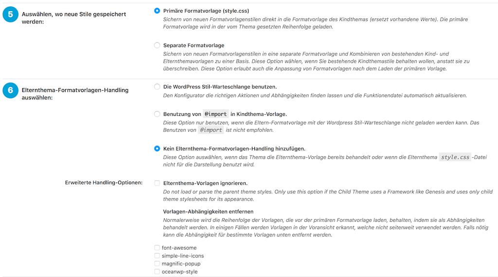 "WordPress Child Theme Plugin ""Child Theme Configurator"""