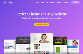 Astra - Perfektes WordPress Theme für jede Website