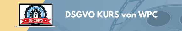 DSGVO WordPress Kurs von WPC
