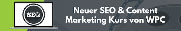 SEO Content Marketing Kurs von WPC
