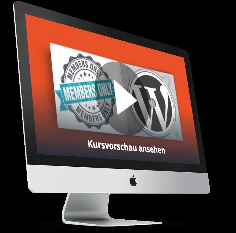 WordPress Membership Online Kurs - Mitgliederseite erstellen