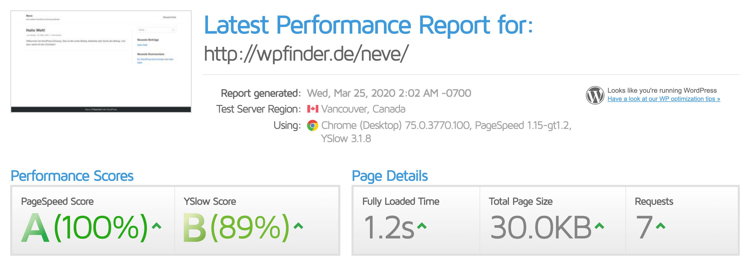 WordPress Theme Neve - das schnellste Elementor Theme