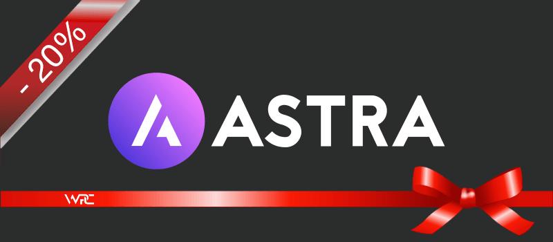 Astra WordPress Theme Gutschein Angebot