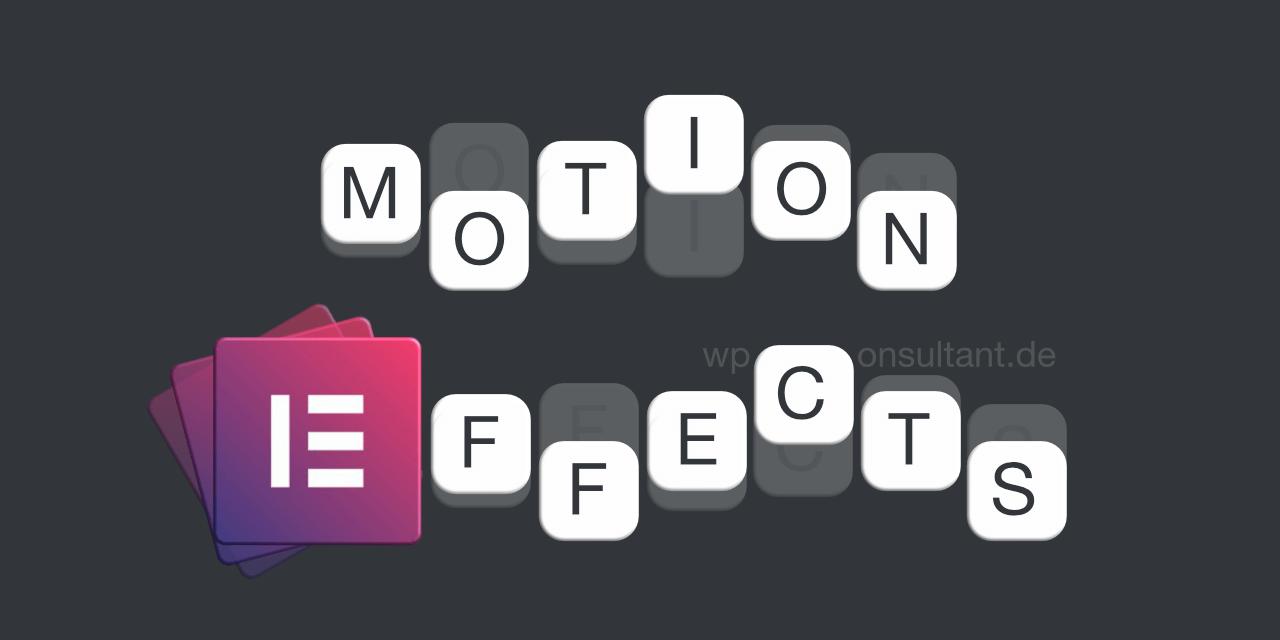 Elementor Motion Effects