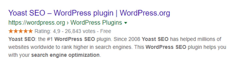 Meta Informationen in den Google Suchergebnissen