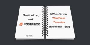 WordPress Redesign durchführen mit Elementor Tipp